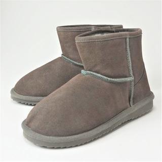 eblouna 本革ムートンブーツ グレージュ 23.0㎝ 7503361401(ブーツ)