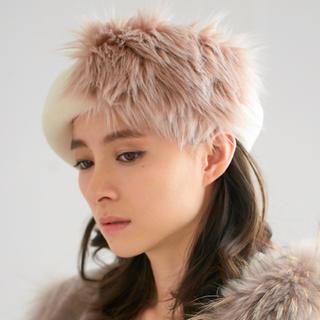 DOUBLE STANDARD CLOTHING - 定価11180円 ダブルスタンダードクロージング ファー付きベレー帽