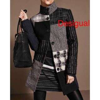 DESIGUAL - 新品 定価30900円 デシグアル コート BLACK サイズ36、40、42