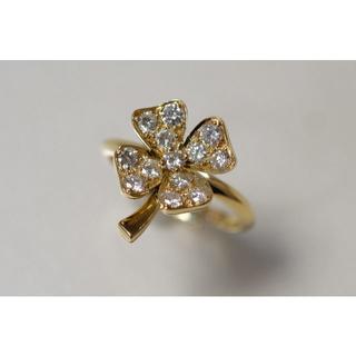 FRED K18 ダイヤモンド リング フレッド クローバー 750 PARIS(リング(指輪))