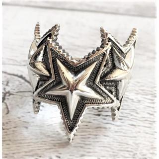 スターデザイン メンズリング/指輪 フリーサイズ silver925(リング(指輪))
