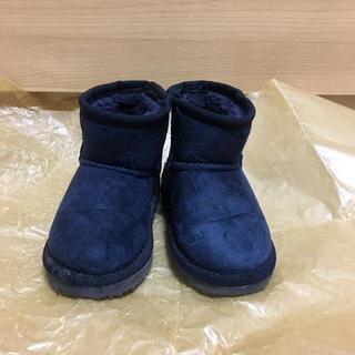 プティマイン(petit main)のプティマイン ブーツ 13cm ネイビー 紺 ムートンブーツ(ブーツ)