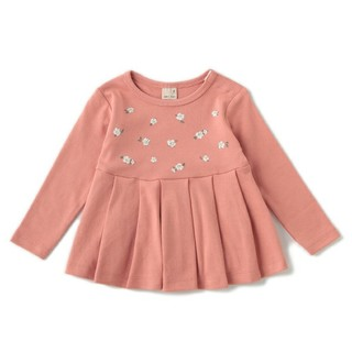 petit main - プティマイン ペプラムプリーツシャツ 120