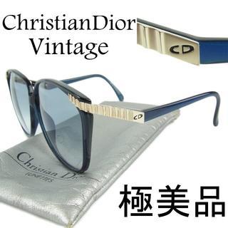 クリスチャンディオール(Christian Dior)のディオール Dior 極美品 ヴィンテージ CD ロゴ セルフレーム サングラス(サングラス/メガネ)