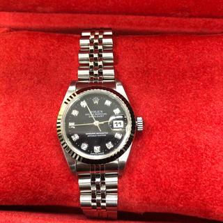 ロレックス(ROLEX)のロレックス デイトジャスト 10p レディース(腕時計)