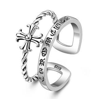 十字架アンティーク風シルバーリング(リング(指輪))