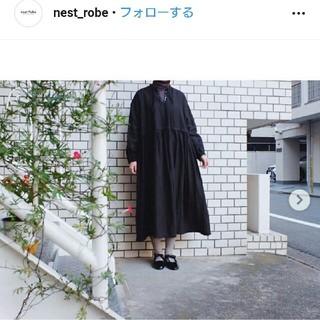 nest Robe - リネンタックネックワンピース