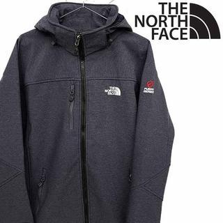 THE NORTH FACE - ノースフェイス マウンテンパーカー チェックグレー M