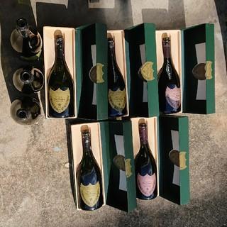 ドンペリニヨン(Dom Pérignon)の1995 ドンペリ 箱入空瓶x5 空瓶3本 (シャンパン/スパークリングワイン)