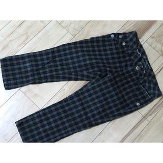 バーバリーブルーレーベル(BURBERRY BLUE LABEL)のバーバリー タグ付き チェック パンツ クロップドパンツ 36 黒*ホワイト(クロップドパンツ)