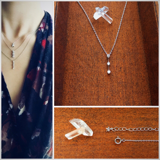 STAR JEWELRY - STAR JEWELRY*Pt950 Crossing star ネックレス