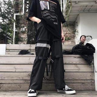 【新品未使用】韓国系 ギミック ミリタリー カーゴパンツ(ワークパンツ/カーゴパンツ)