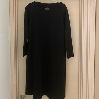 MUJI (無印良品) - ミラノリブ編み七分袖ワンピース