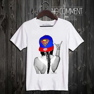 新品☆NO COMMENT Paris ノーコメントパリ Tシャツ 白 XS(Tシャツ(半袖/袖なし))