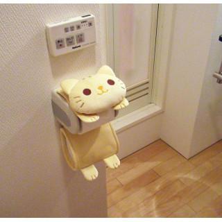 【ネコちゃん好きに】ねこのロールペーパーホルダー トラ