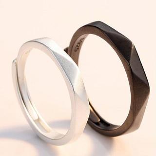 BS001 指輪 メンズ レディース リング 2個セット 【ラッピング袋付】(リング(指輪))