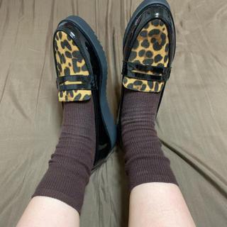 ディーホリック(dholic)のレオパードシューズ(ローファー/革靴)