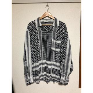 UNUSED - 19ss UNUSED afghan print shirt サイズ2