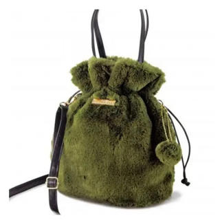 素敵なあの人 12月号 付録 ふんわりファーの巾着バッグ トートバッグ