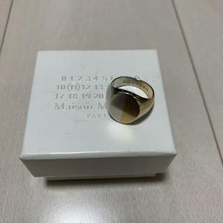 マルタンマルジェラ(Maison Martin Margiela)のマルジェラ オーバルリング ツートーン シグネットリング(リング(指輪))