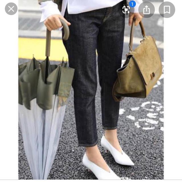 Spick and Span(スピックアンドスパン)の二度のみ着用♡シンクロニシティリジッドデニム レディースのパンツ(デニム/ジーンズ)の商品写真
