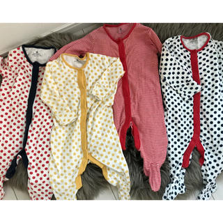 NEXT - nextbaby 足つきロンパース 4枚セット 美品