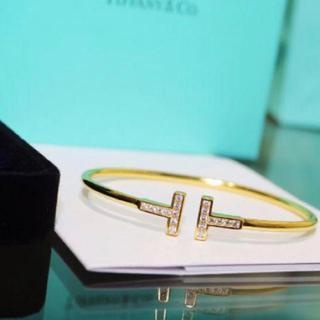 Tiffany & Co. - ✨ティファニー好き✨ Tワイヤーブレスレット ゴールド