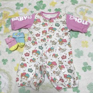 ベビードール(BABYDOLL)のbaby doll キキララ 2wayカバーオール 靴下セット(カバーオール)
