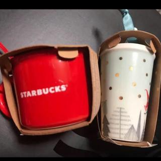 Starbucks Coffee - 新品 スターバックス 赤いコーヒーカップ&トナカイタンブラーオーナメント