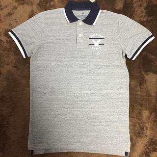アメリカンイーグル(American Eagle)のアメリカンイーグル ポロシャツ メンズ グレー(ポロシャツ)