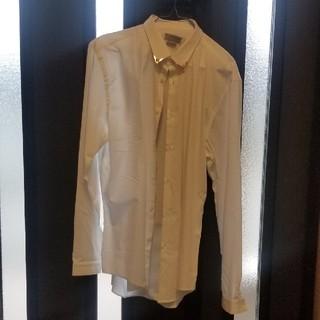 ザラ(ZARA)のZARA襟ゴールドスタッズ付きドレスシャツXL(シャツ)