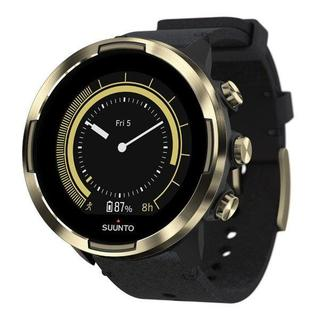 スント(SUUNTO)の新品☆Suunto 9 Baro☆ゴールド+レザー☆スントナイン最高級モデル(腕時計(デジタル))