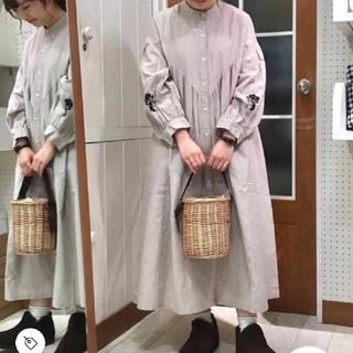 SM2 - SM2 花刺繍ワンピース  キナリ
