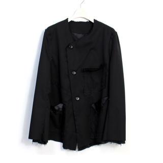 ヨウジヤマモト(Yohji Yamamoto)のsulvam17aw ノーカラージャケット(ノーカラージャケット)