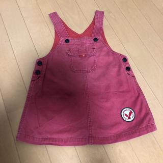 コシノジュンコ(JUNKO KOSHINO)のジュンコ コシノ ジャンパースカート ワンピース オーバーオール 女の子 90(ワンピース)