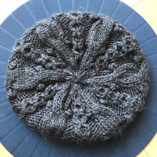 エイチアンドエム(H&M)のH&M   ケーブル編み ニットベレー帽(ハンチング/ベレー帽)