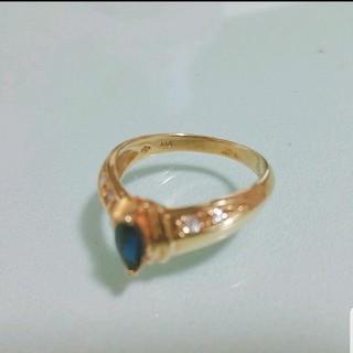 【セール中】K18 リング サファイア ダイヤ(リング(指輪))