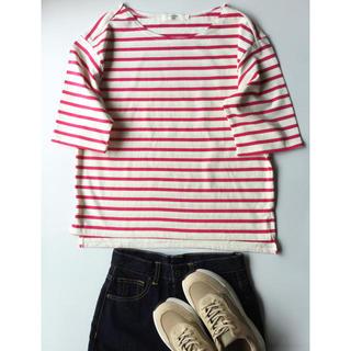 SM2 - 【極美品】サマンサ モスモス フューシャピンクのバスクシャツ L