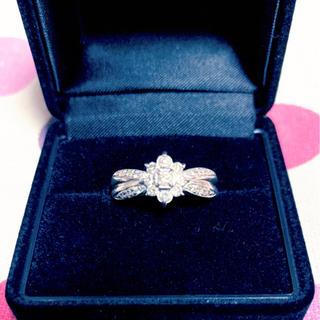 ♡フラワーモチーフ♡プラチナ ダイヤリング ダイヤモンドリング♡ 0.5ct