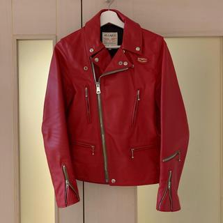ルイスレザー(Lewis Leathers)のルイスレザー  赤 ホースレザー 402T 34(ライダースジャケット)
