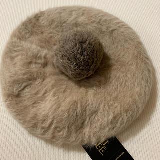 セシルマクビー ラビットファーポンポンベレー帽