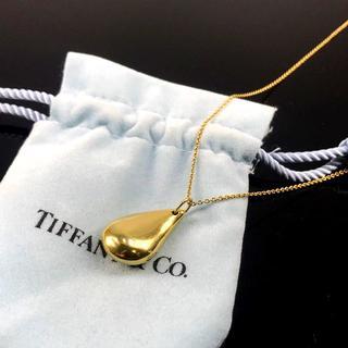 Tiffany & Co. - 希少 美品 ティファニー ゴールド ビッグ ドロップ ネックレス BO31