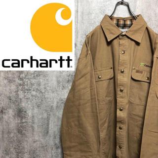 carhartt - 【激レア】カーハート☆企業刺繍・レザーロゴ入りダックジャケットカバーオール