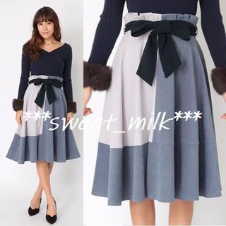CECIL McBEE - セシルマクビー リボン付きバイカラー切り替えスカート