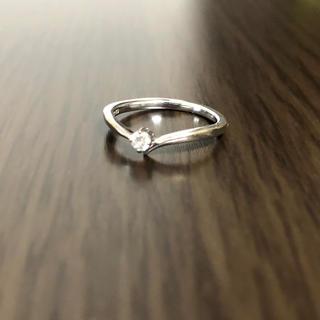 ヨンドシー(4℃)の【6号】k10ホワイトゴールドリング(リング(指輪))