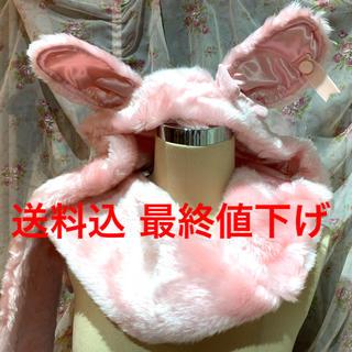Angelic Pretty - 新品未使用 タグ付 うさみみフード付きファーマフラー ピンク