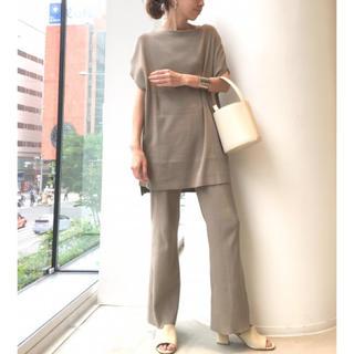 L'Appartement DEUXIEME CLASSE - Rib Knit パンツ