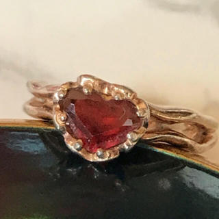 天然石ガーネットのシルバーリング(リング(指輪))