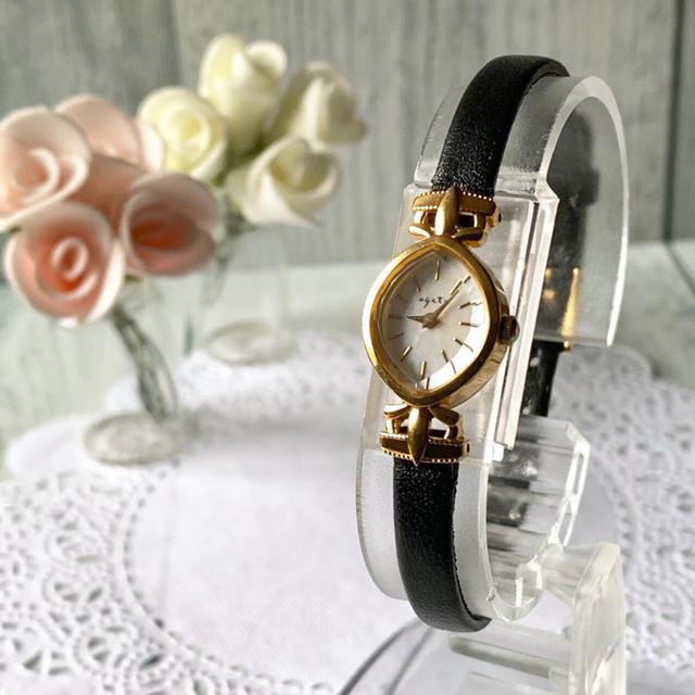 agete - 【電池交換済み】agete アガット silver シルバー 腕時計 ゴールドの通販