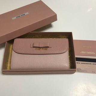 miumiu - MIUMIU マドラスバイカラー三つ折財布
